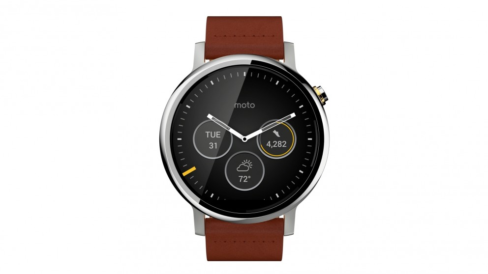 moto smartwatch. moto 360 gen 2 46mm mens smart watch - silver cognac smartwatch