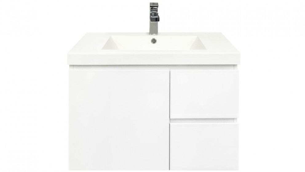 Forme Fifth Avenue 750mm Right Side Drawer Wall Hung  Vanity - Polymarble