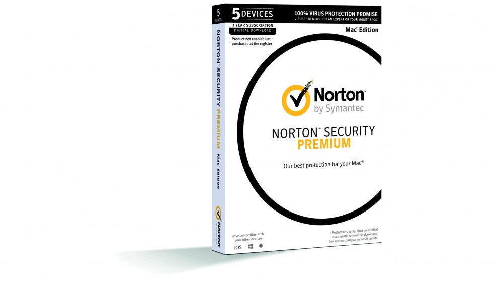 Norton Security Premium for Mac - 3 Years for 5 Devices