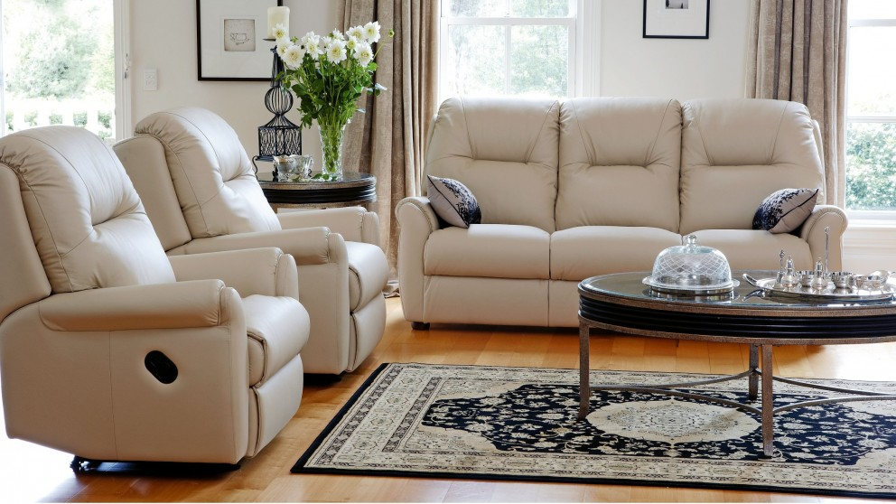 Rilley 3 Piece Leather Recliner Lounge Suite : reclining lounge suites - islam-shia.org