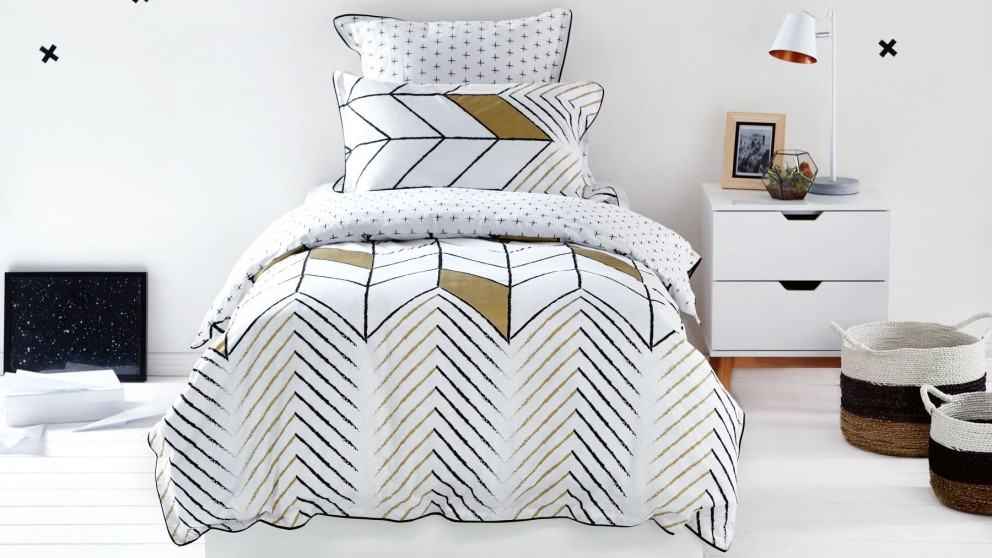 Rio Gold Quilt Cover Set - King