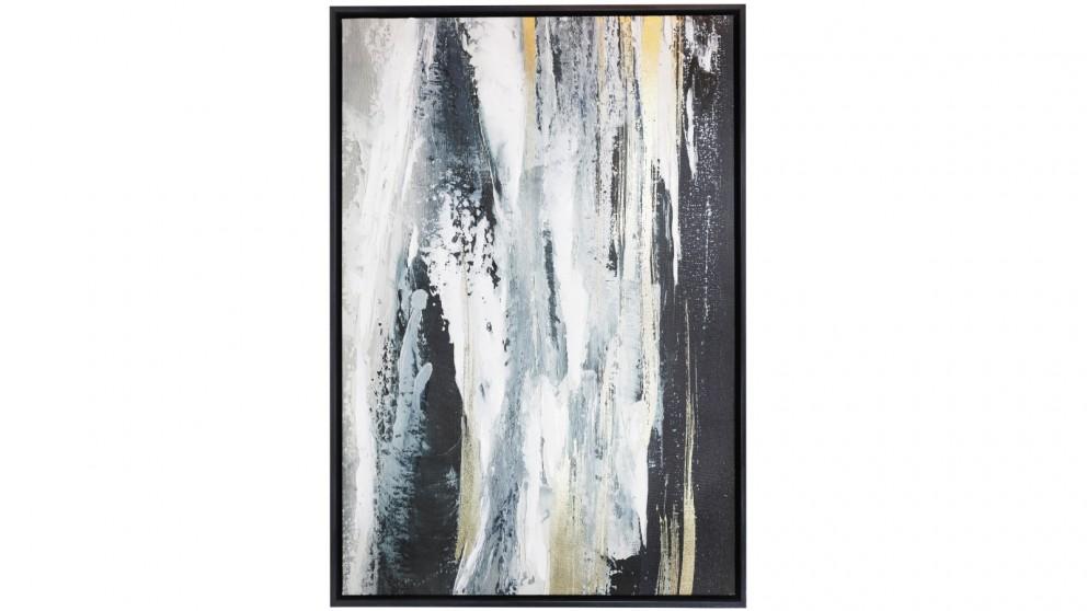 Splosh Royale Waterfall 64x94 Framed Canvas - Large