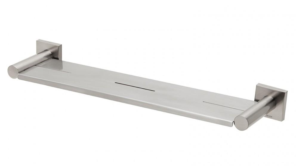 Phoenix Radii Square Plate Metal Shelf - Brushed Nickel