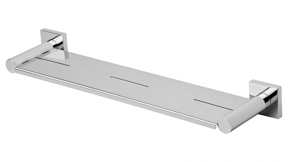 Phoenix Radii Square Plate Metal Shelf - Chrome