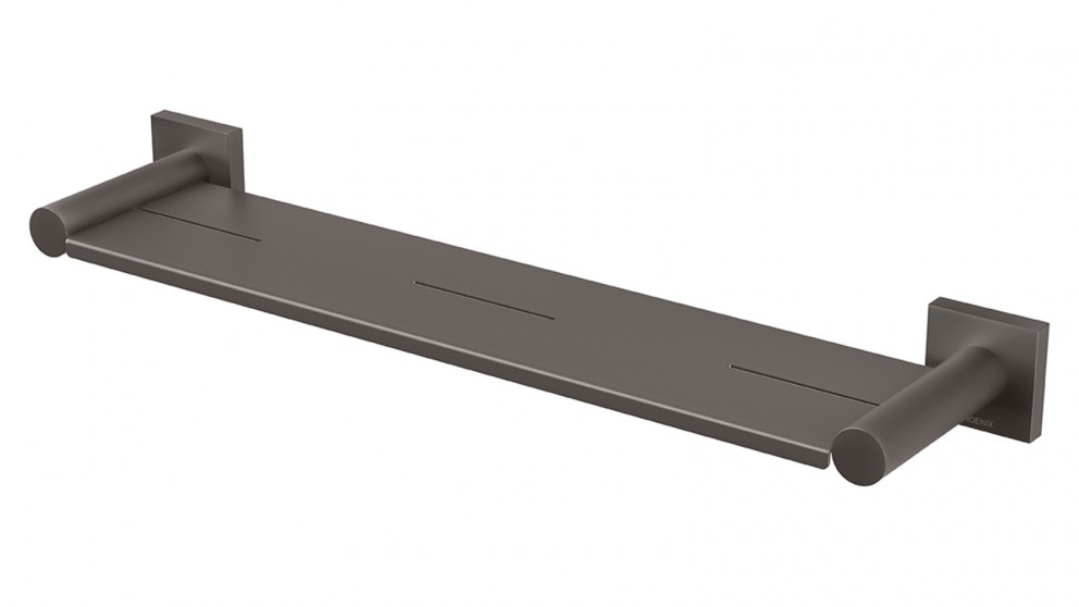 Phoenix Radii Square Plate Metal Shelf - Gun Metal