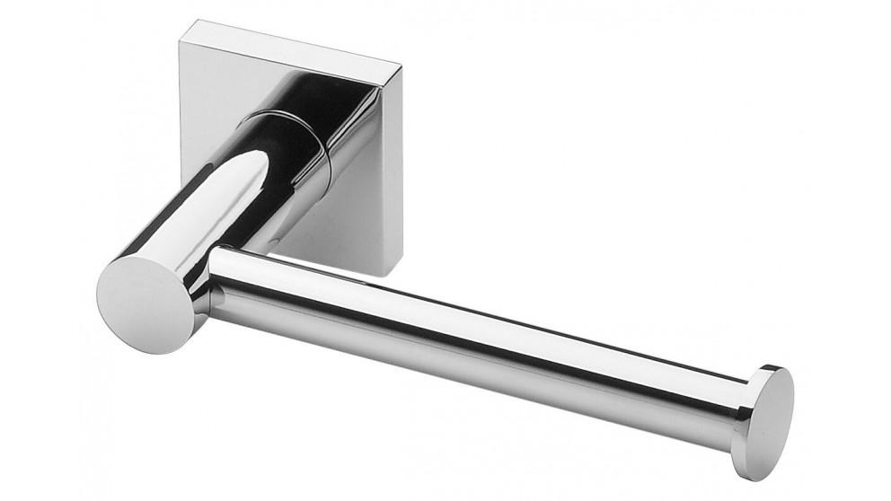 Phoenix Radii Square Plate Toilet Roll Holder - Chrome
