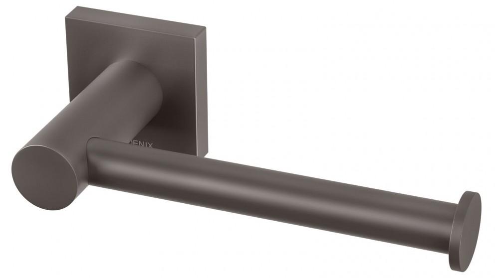 Phoenix Radii Square Plate Toilet Roll Holder - Gun Metal