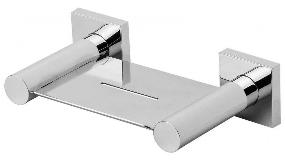 Phoenix RadII Square Plate Soap Dish - Chrome