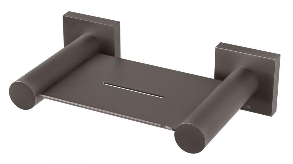 Phoenix Radii Square Plate Soap Dish - Gun Metal