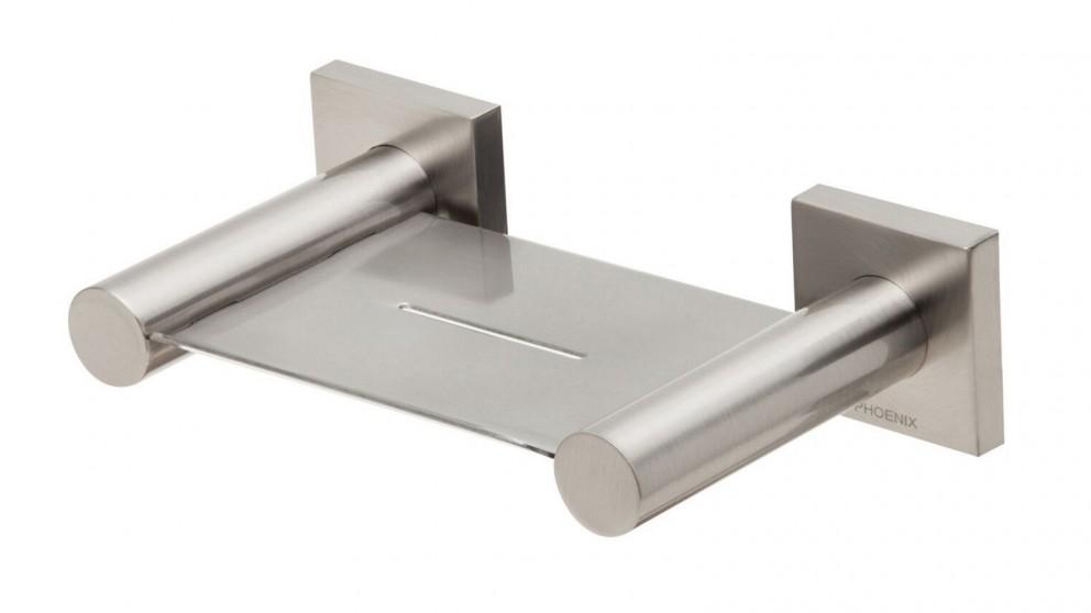 Phoenix RadII Square Plate Soap Dish - Brushed Nickel