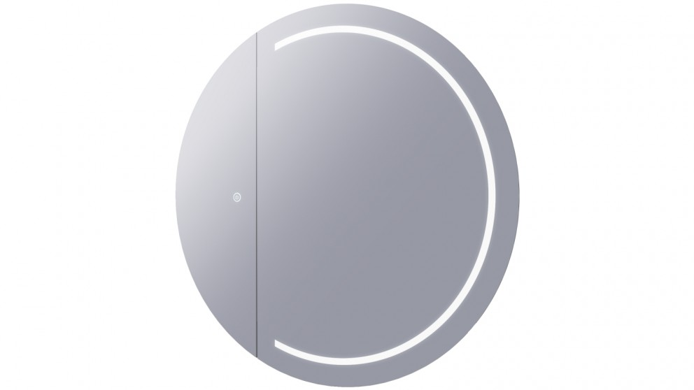 Remer Pearl 900mm Round Shaving Cabinet with Frontlit LED Light