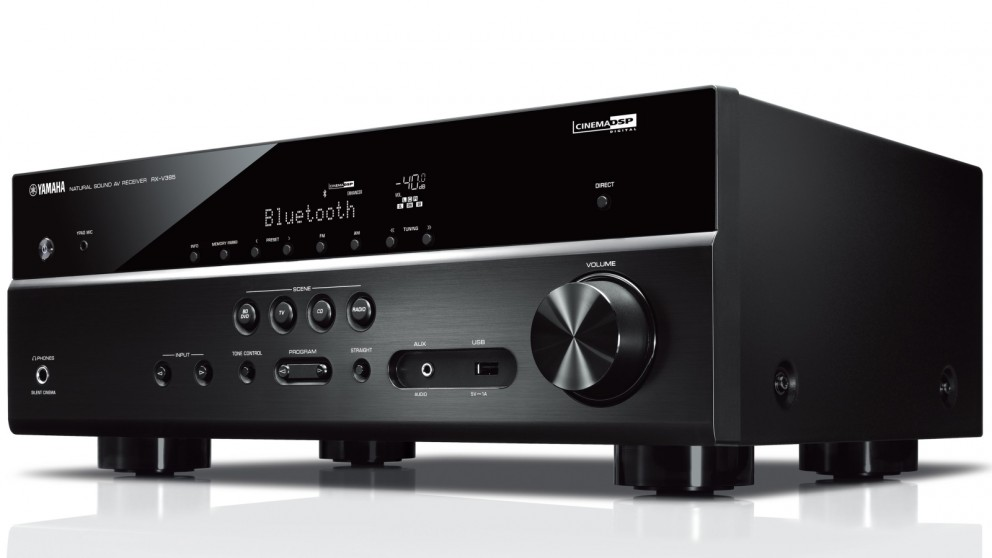 Buy yamaha 5 1 channel rx v385 av receiver harvey norman au for Yamaha tv receiver