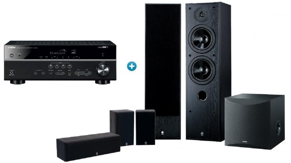 Yamaha 5.1 Channel MusicCast AV Receiver + Speaker Package