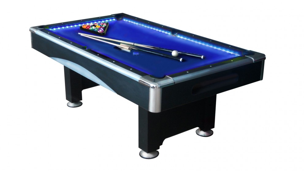 Sportslife 7ft LED/MP3 Pool Table - Blue