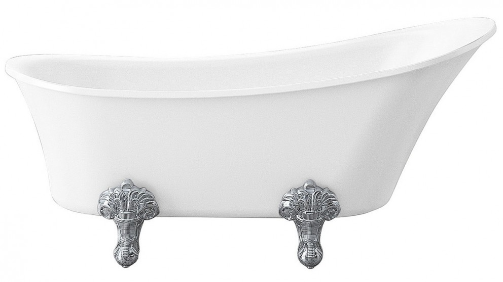 Studio 1 Burlington 1550mm Claw Foot Freestanding Bath with Chrome Legs