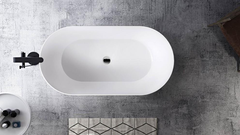 Studio 1 Impressa 1500mm Silk Surface Thin Edge Freestanding Bath - Matte White