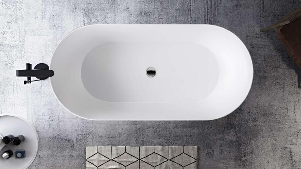 Studio 1 Impressa 1800mm Silk Surface Thin Edge Freestanding Bath - Matte White