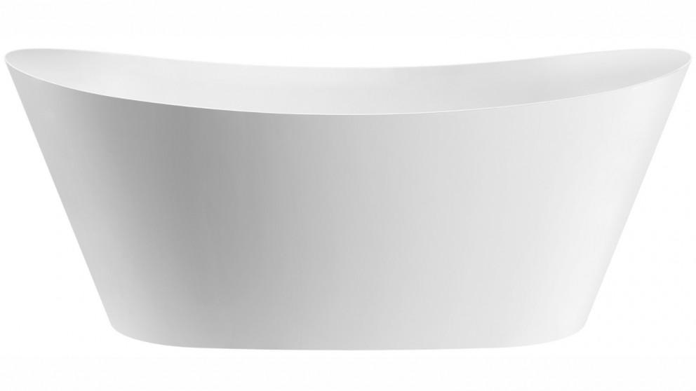 Studio 1 Indulgence Silk 1700mm Thin Edge Freestanding Bath - Matte White