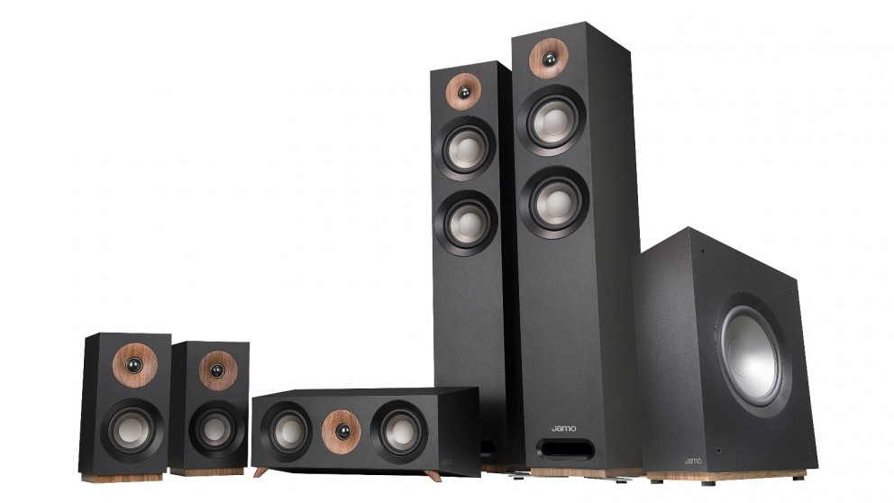 Jamo S807 5 1 Channel Atmos Ready Speaker Pack - Black