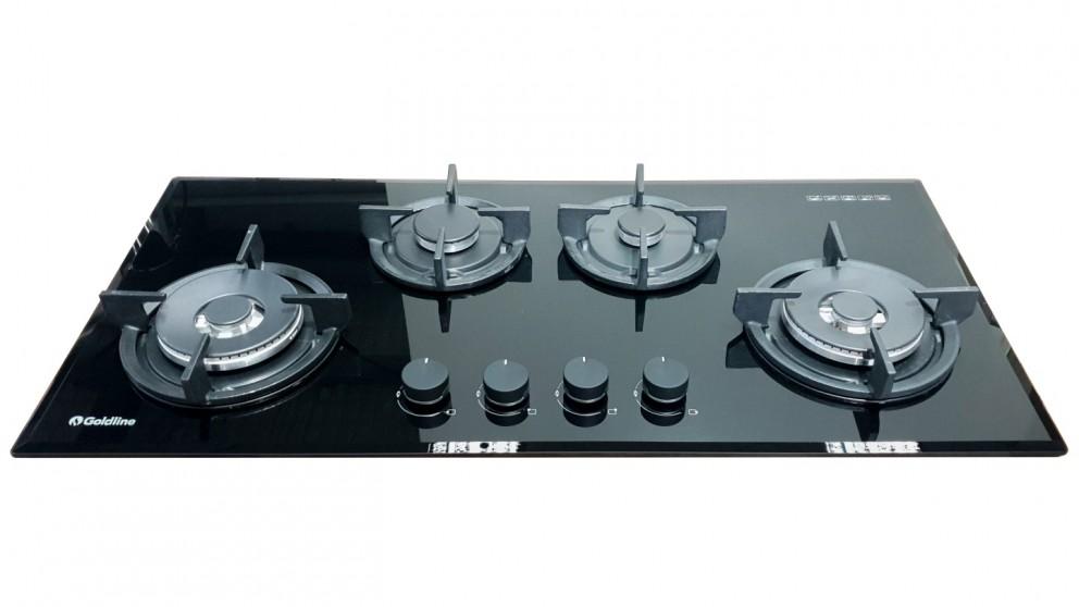 Goldline SAB4GL 930mm 4 Burner Gas Cooktop - Black