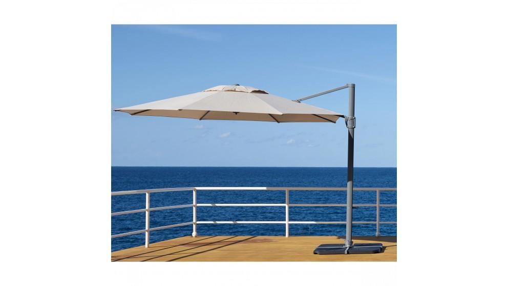 Pambula 3.3m Octagonal Cantilever Outdoor Umbrella - Sandstone