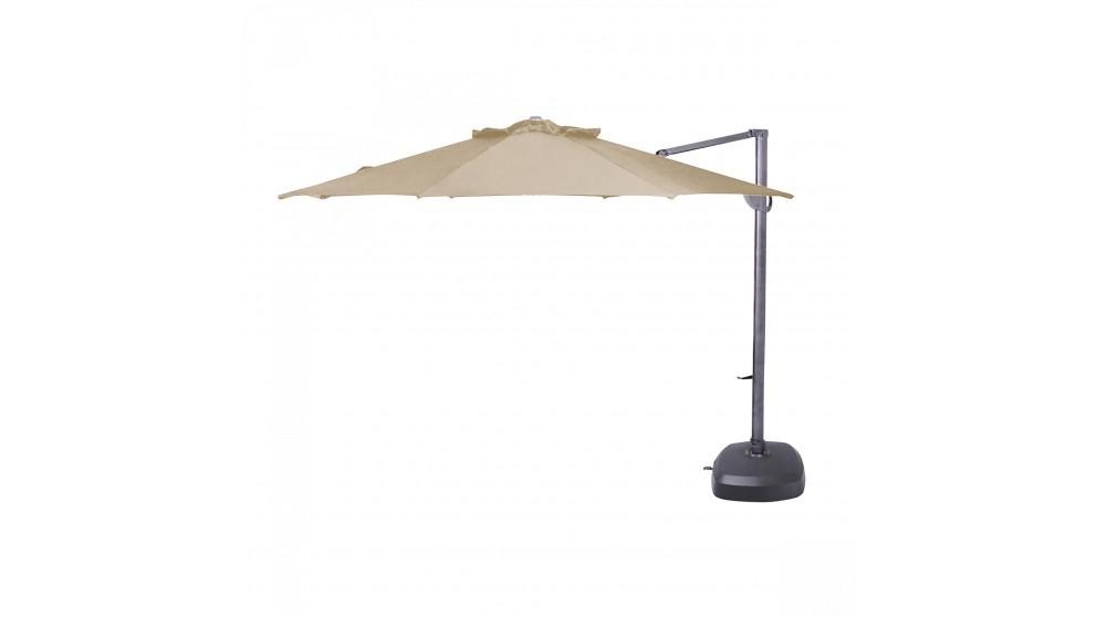 Pampa 3.5m Octagonal Cantilever Outdoor Umbrella - Sandstone