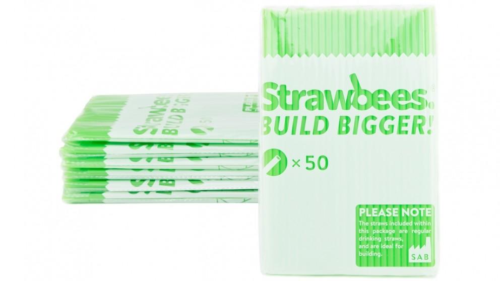Strawbees 50 Pack Straws - Green