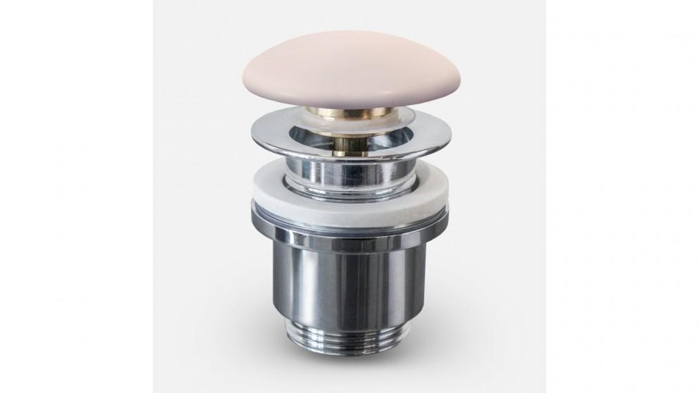 Sanceramica 32mm Pop-Up Waste with Ceramic Cover - Light Pink