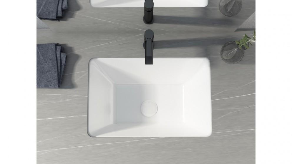 Sanceramica Element 525mm Rectangular Undermount Basin - Matte White