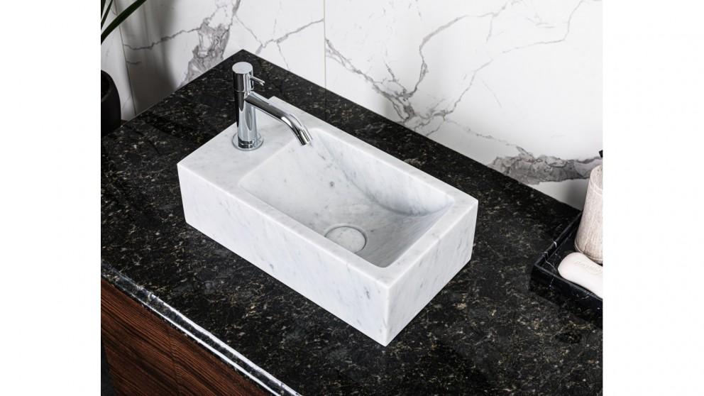 Sanceramica Stella Vanity Marble Above Counter Basin - Carrara White Natural