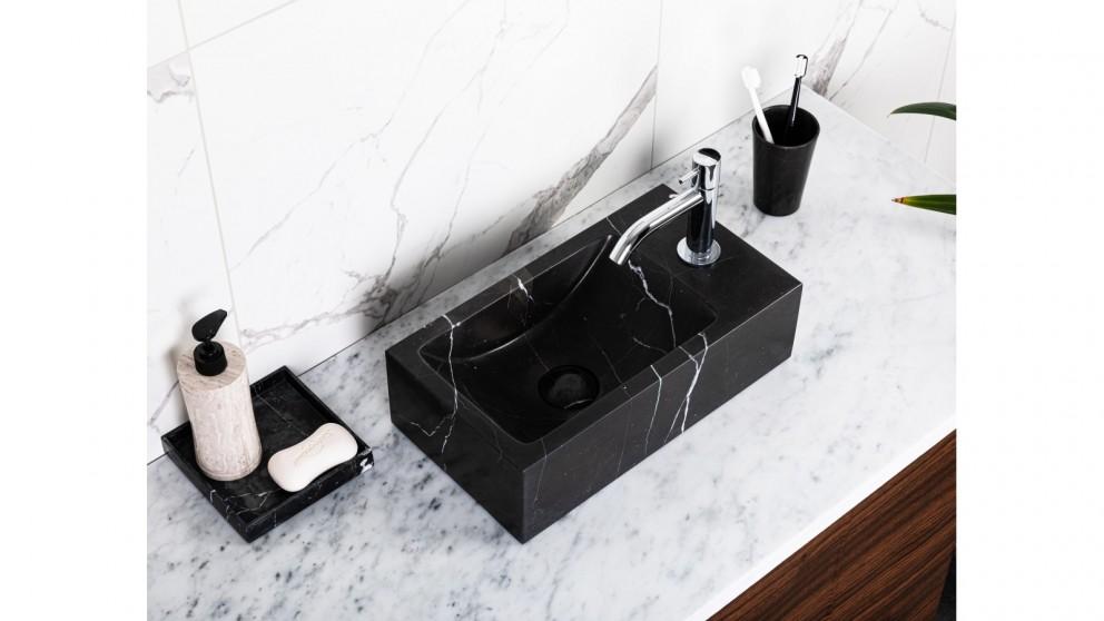 Sanceramica Stella Vanity Marble Above Counter Basin - Nero Marquina Natural