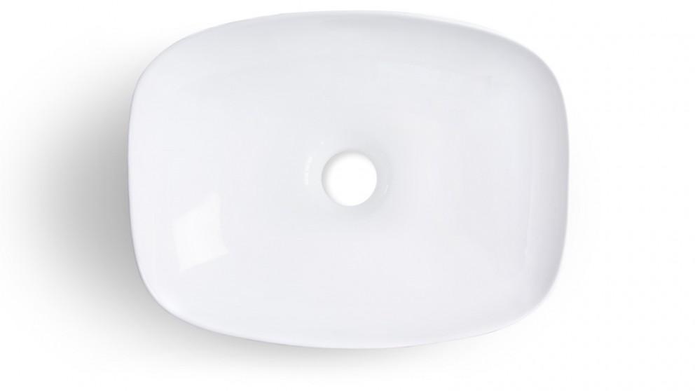 Sanceramica Minimal 505mm Semi-inset Basin - Gloss White
