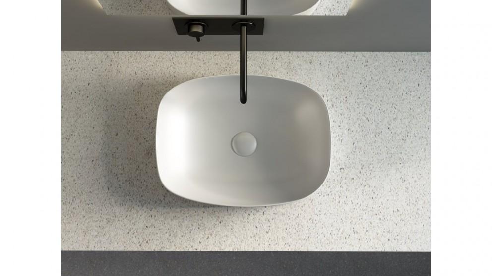 Sanceramica Minimal 505mm Semi-inset Basin - Light Silver