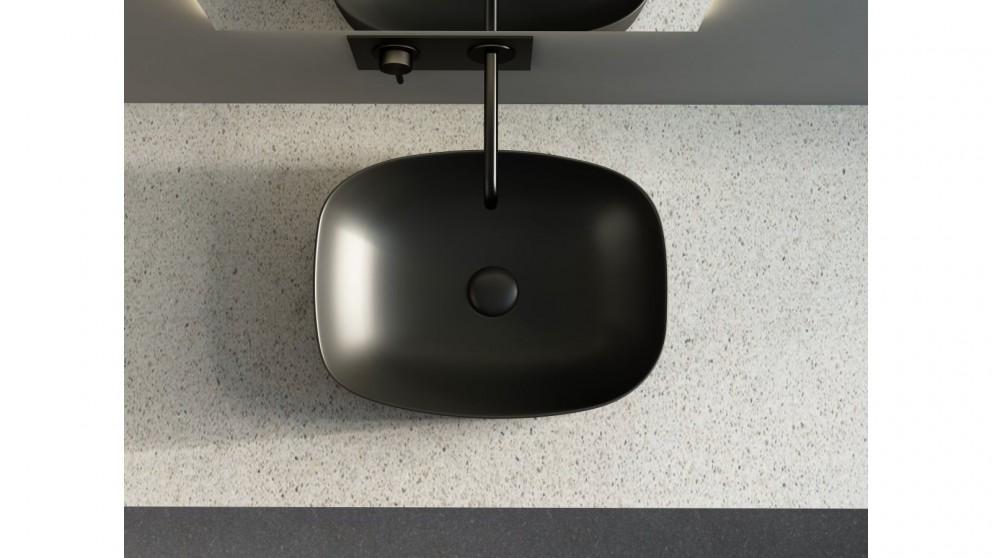 Sanceramica Minimal 505mm Semi-inset Basin - Matte Black