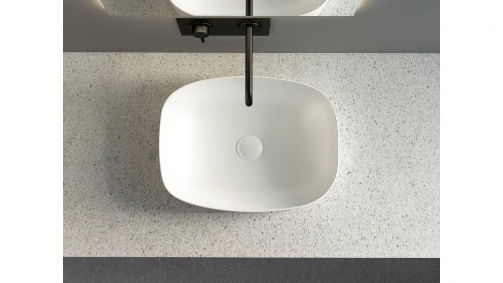 Sanceramica Minimal 505mm Semi-inset Basin - Matte White