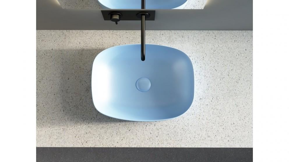 Sanceramica Minimal 505mm Semi-inset Basin - Steel Blue