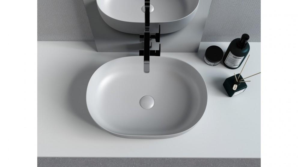 Sanceramica Artique 550mm Vessel Basin - Light Silver