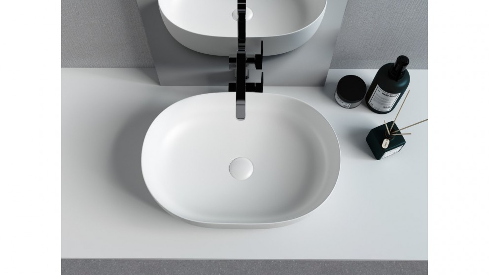 Sanceramica Artique 550mm Vessel Basin - Matte White