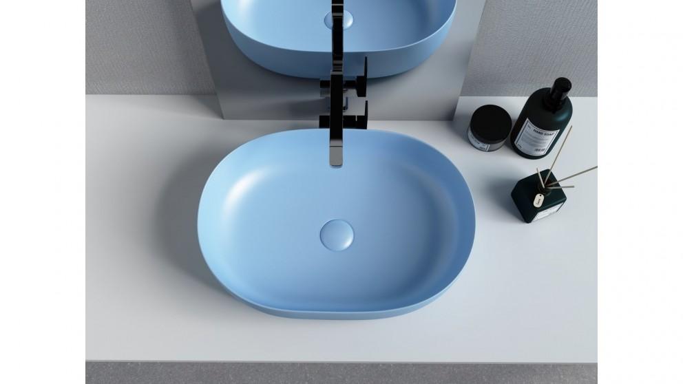 Sanceramica Artique 550mm Vessel Basin - Steel Blue