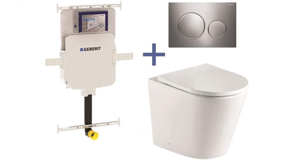 Buy Geberit Sigma8 Cistern + Straight Wall-Faced Toilet