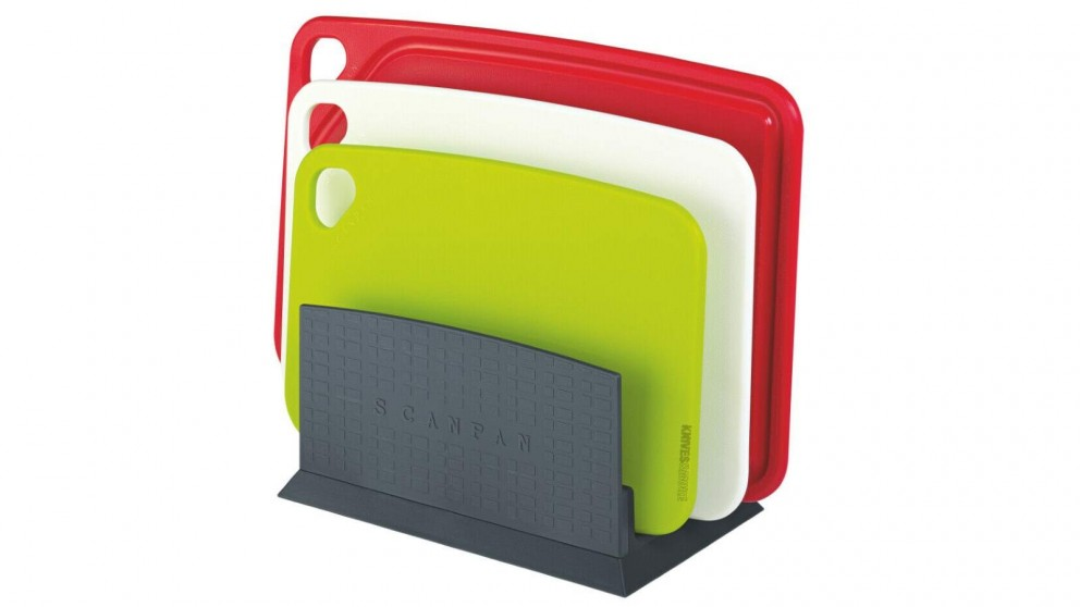 Scanpan Spectrum 4 Piece Cutting Boards Set with Stand