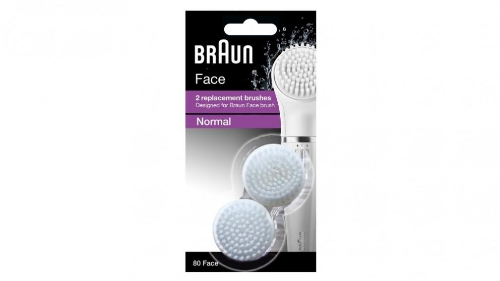 Braun 80 2 Brush Refills for Braun Facial Cleansing Brush