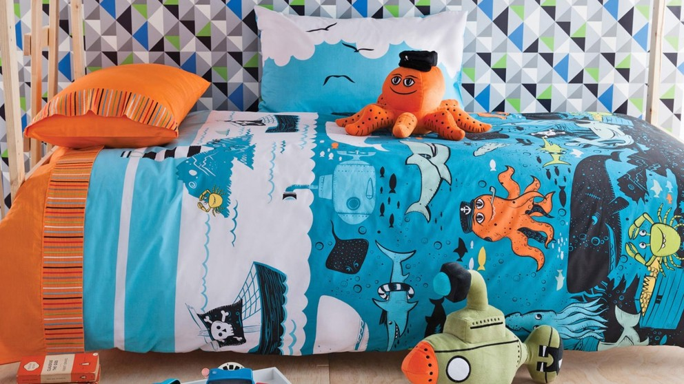 Under the Sea Single Quilt Cover Set
