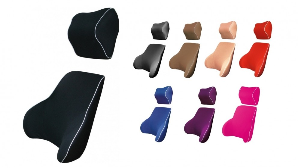 Memory Foam Back and Neck Combo