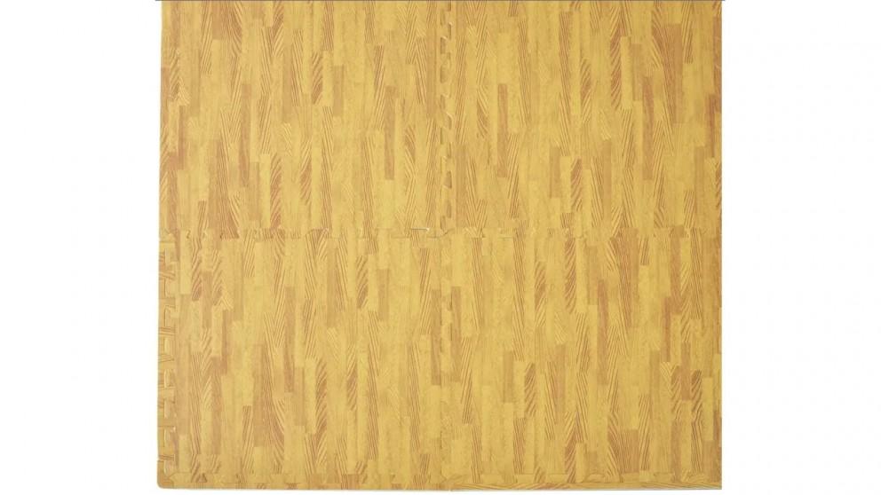 Serrano 12 Tiles EVA Fitness Home Yoga Gym Interlocking Floor Puzzle Mat - Wood