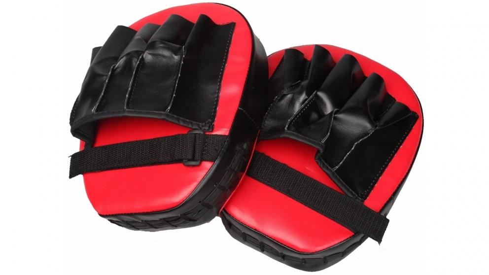 Serrano 2x Thai Boxing Punch Focus Gloves Kit Training - Red/Black