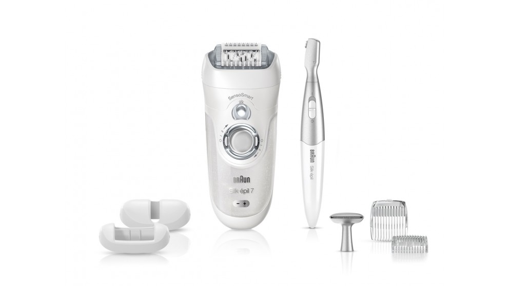 Braun Silk-Epil Series 7 7/890 SensoSmart Wet and Dry Epilator - White/Silver