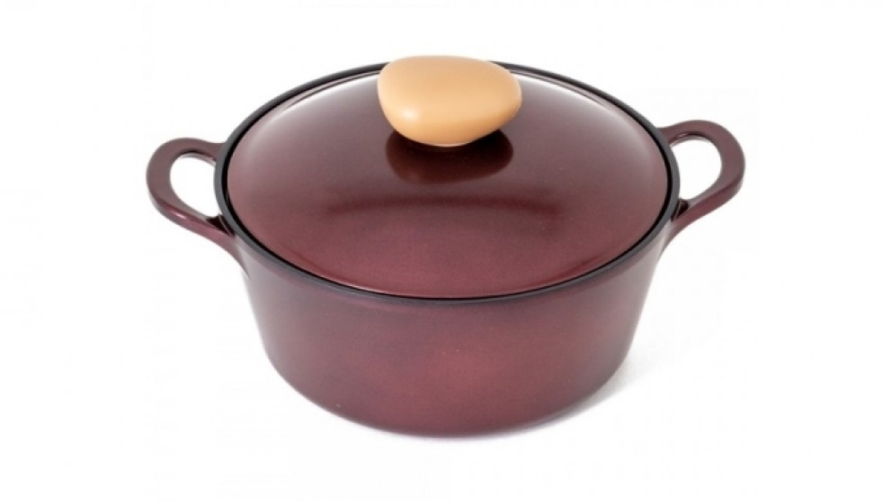 Neoflam Retro Jewel 22cm Casserole 2.8L Induction with Die-Casted Lid - Red Ruby
