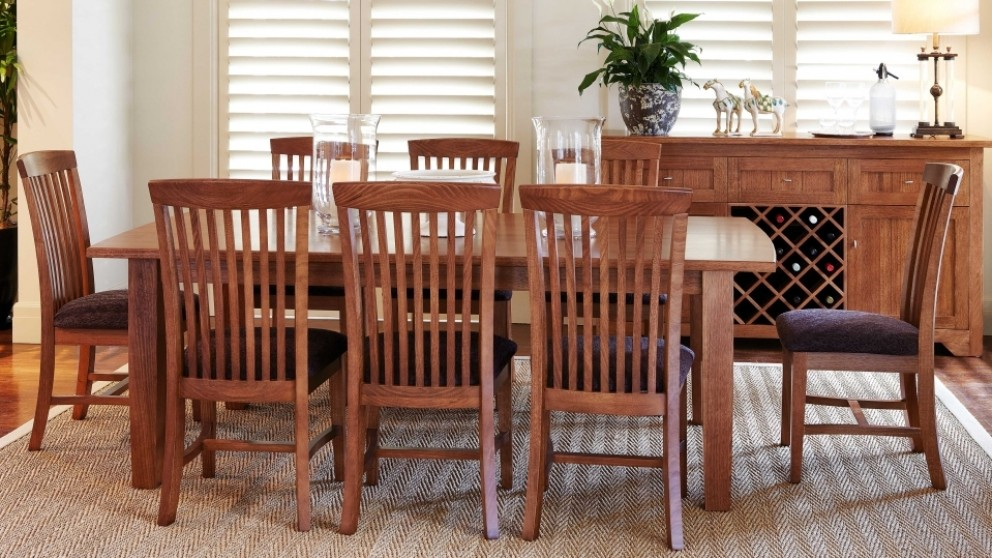 balmoral 9 piece dining setting - dining furniture - dining room