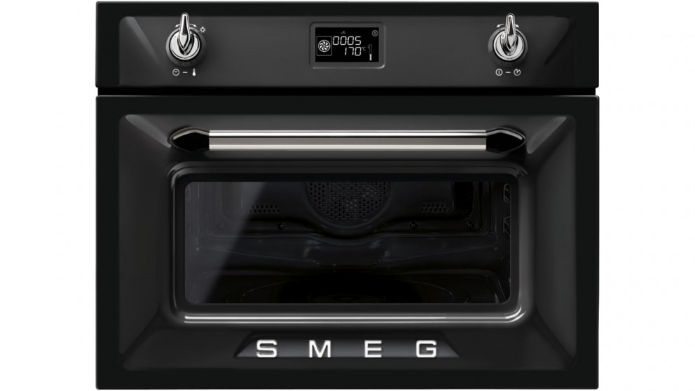 Smeg 600mm Victoria Compact Speed Oven - Black